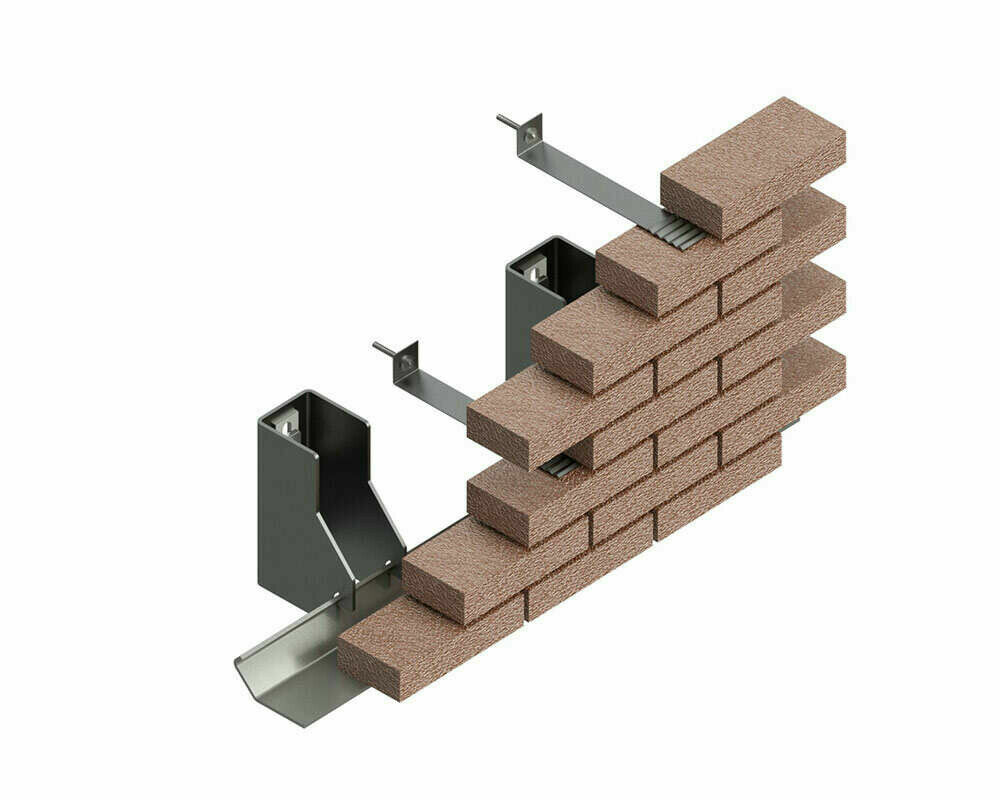 fastenings for ventilated facades Anchoring system Series GL brick