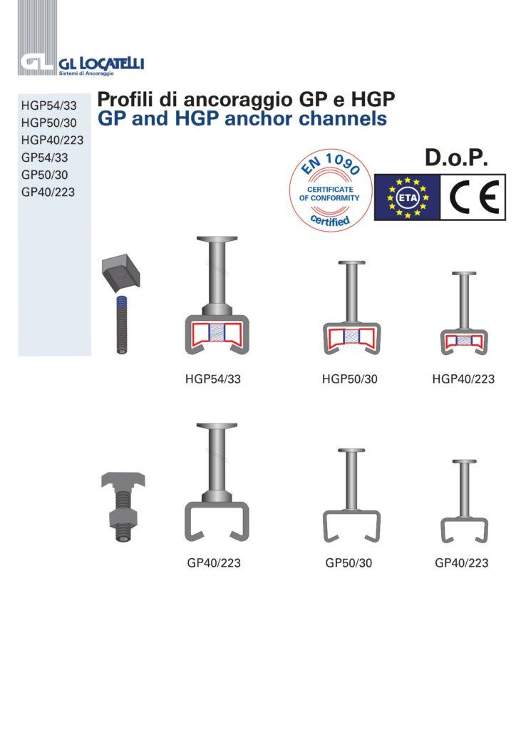 DOP Profili di ancoraggio GP e HGP