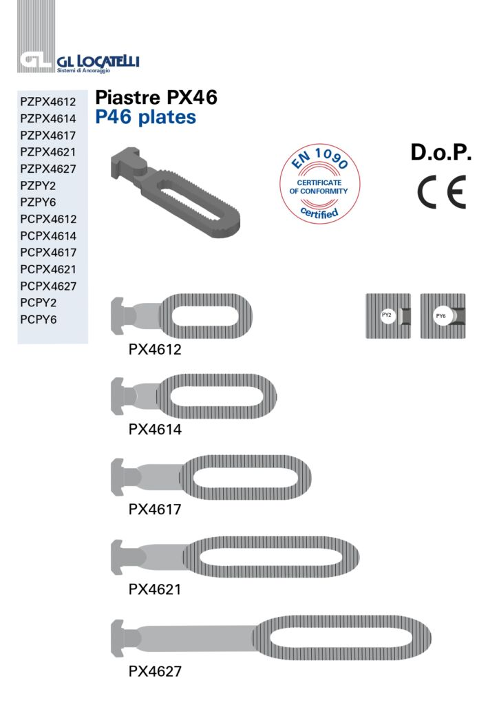 PX46 PLATES