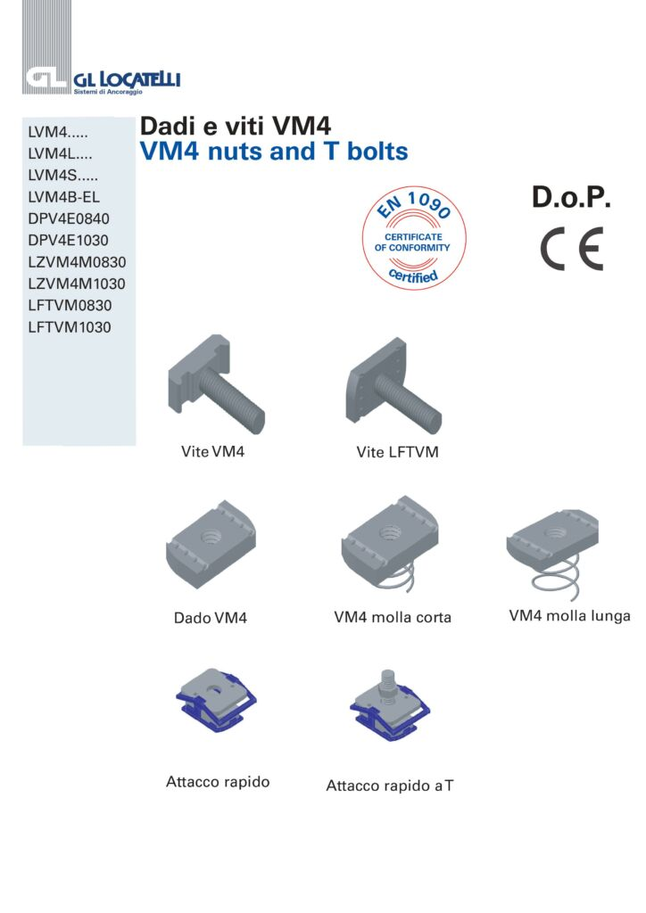 VM4 NUTS AND T BOLTS